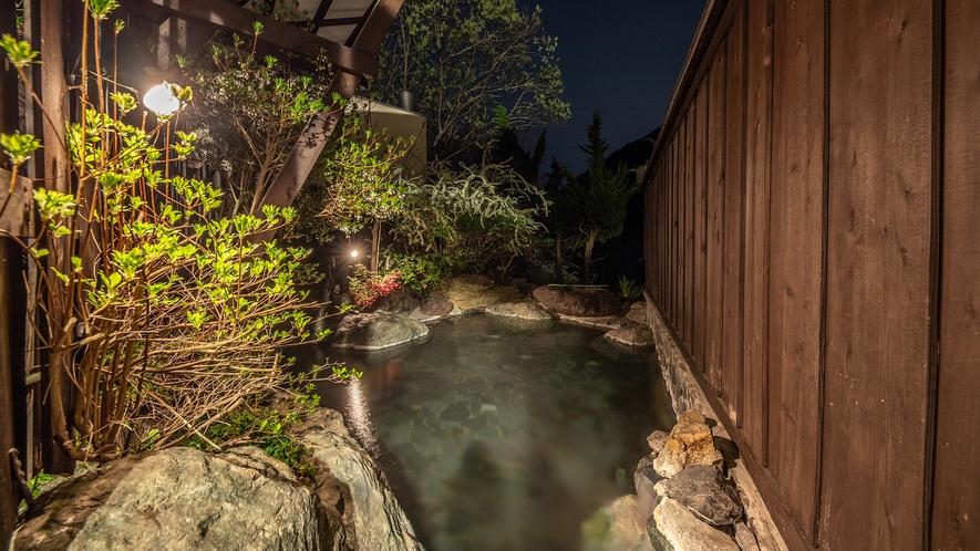 【露天風呂】山の湯(夜)