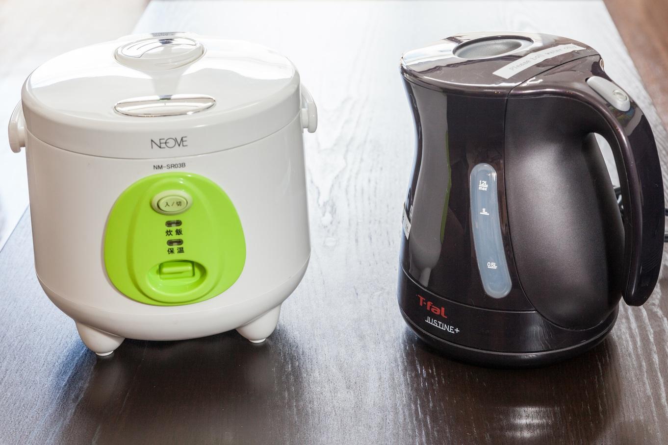 炊飯器、電気ケトル