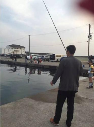 魚釣好きのお客さん