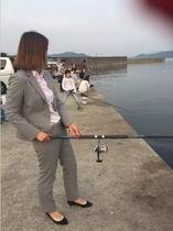 魚釣り好きのお客さん