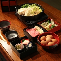 京野菜たっぷりすき焼き