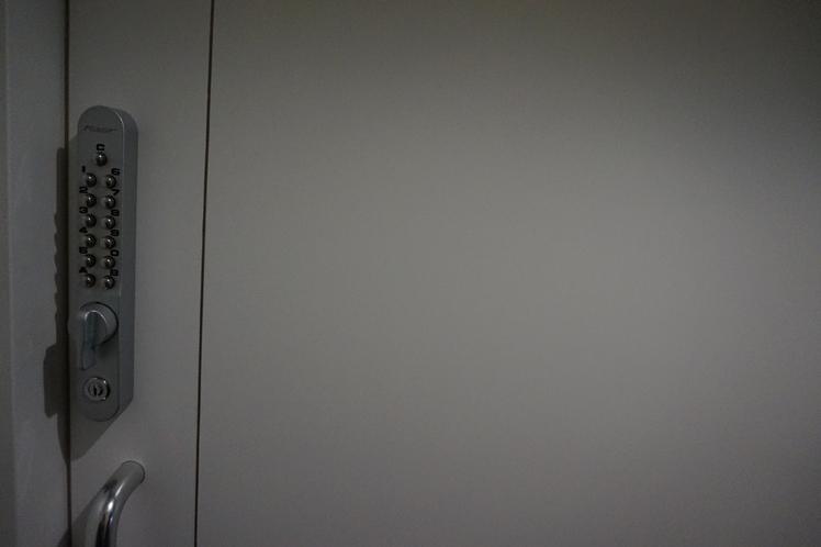 客室のセキュリティーロックで、鍵をもつ必要なし☆