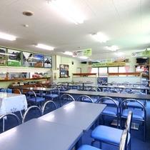 【館内】食堂。夕食・朝食はこちらでご用意します。