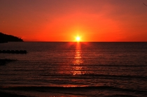日本一宣言の夕陽