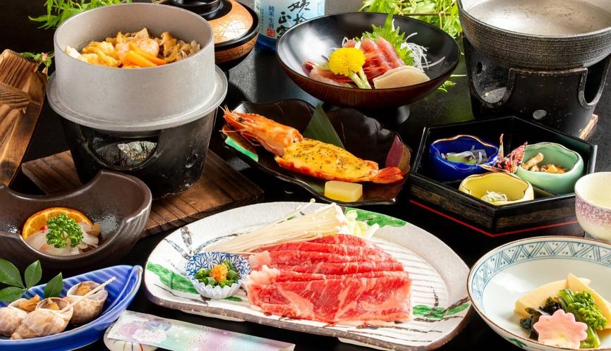 信州牛のしゃぶしゃぶと特製釜飯