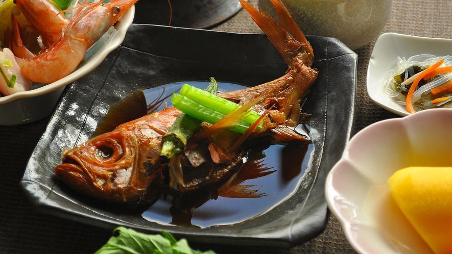 【会席料理一例】金目鯛の煮つけ※季節によって食材が異なります。