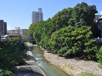 【周辺】当館の裏には石川が流れております。