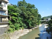 【周辺】当館の裏を流れる石川の景色をご堪能ください。