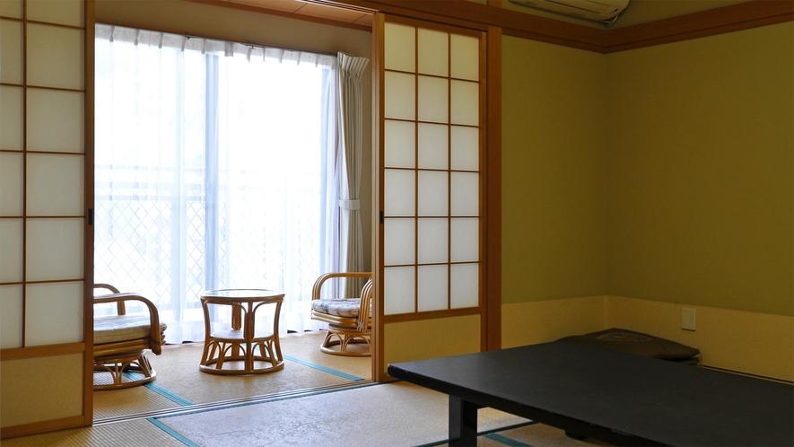 【和室8畳】石川に面したお部屋です。