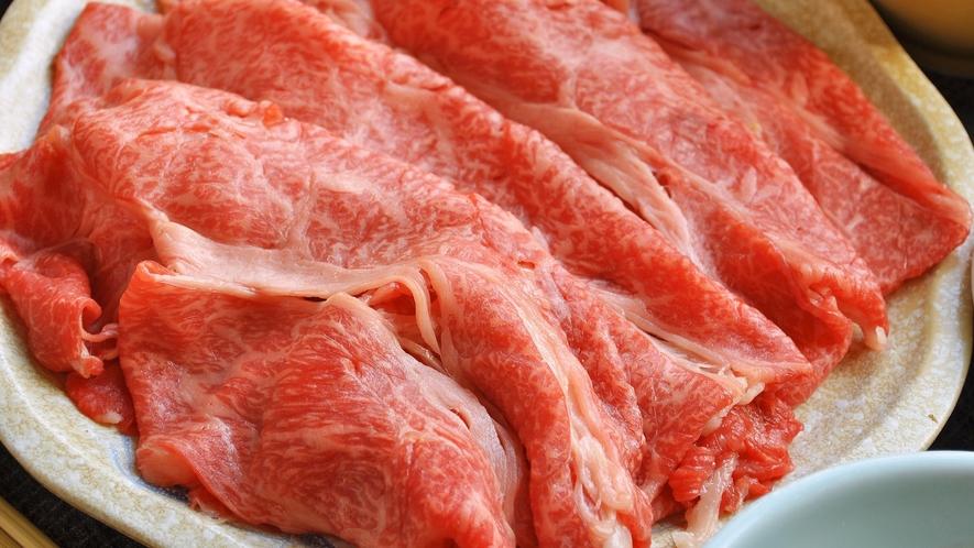 【しゃぶしゃぶ一例】上質なお肉がお口の中でとろけます。