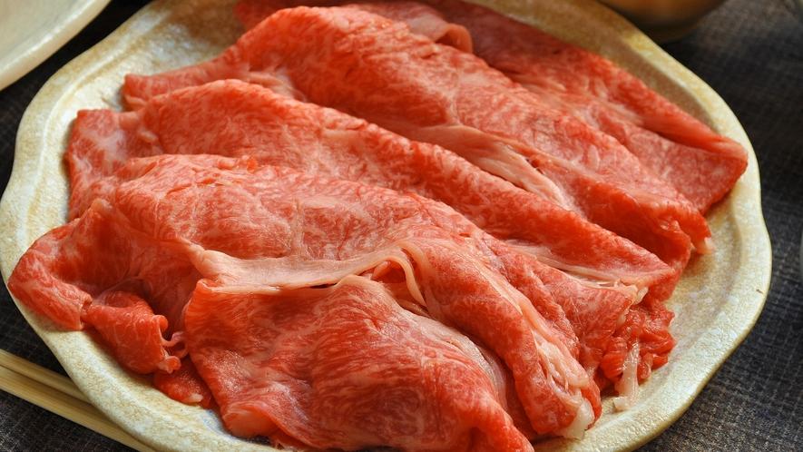 【すき焼き一例】柔らかな極上肉をご賞味ください。