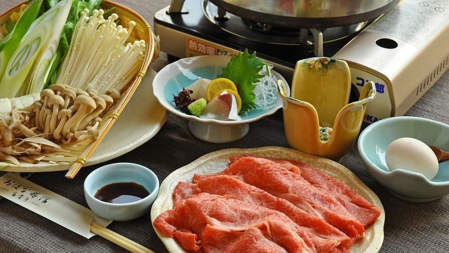 【すき焼き一例】旬の野菜と上質なお肉でご満悦♪
