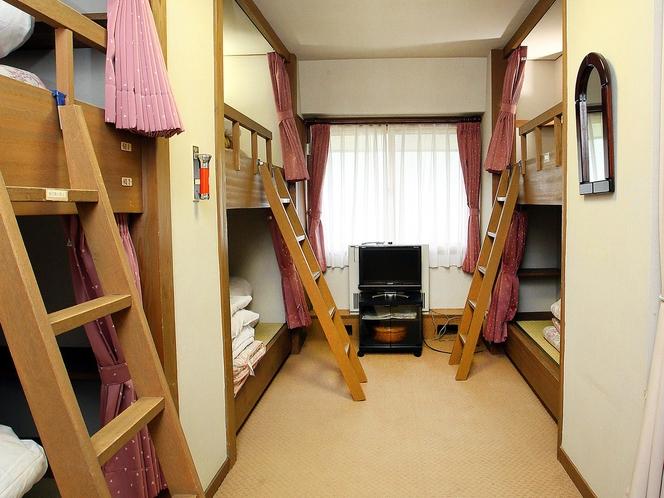 二段ベット 6人部屋