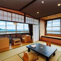 太平洋を見渡す畳のお部屋