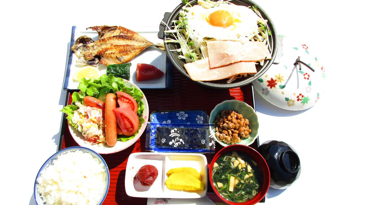 朝食一例1:朝食も一つ一つ手作りです。