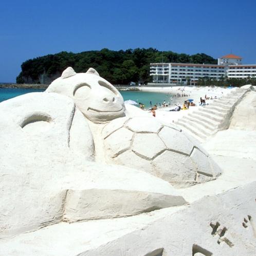 白良浜の砂まつり