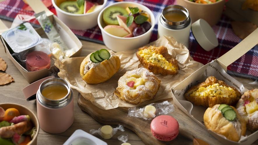 朝食ピクニック