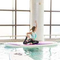 Hot spring SUP Yoga1