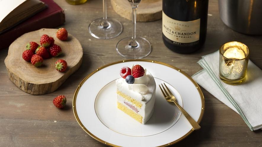 記念日にホテルメイドケーキでお祝い