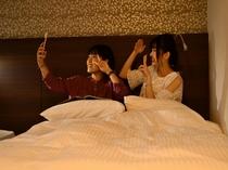 ツインルーム 女子旅、家族旅行にぜひ。お子様の添い寝利用も可能です。