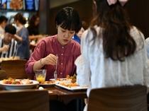 朝食 レストランは朝7時から10時(L.O.9時30分)まで行っております。