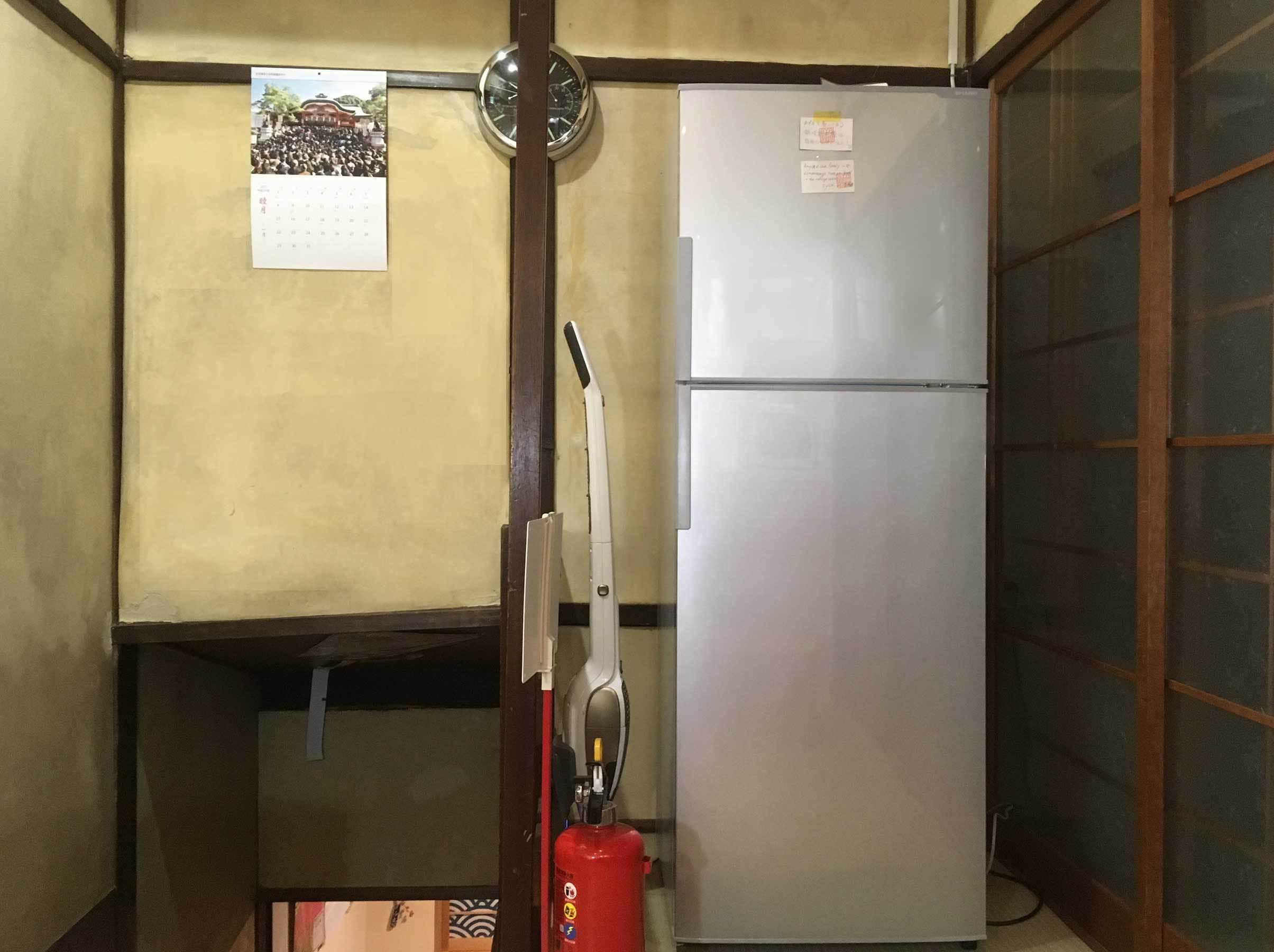 キッチンの冷蔵庫