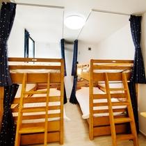 【ドミトリー】2段ベッド×2台/11平米/Wi-Fi