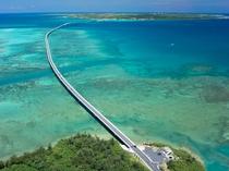【伊良部大橋】宮古島と伊良部島を結ぶ長い橋