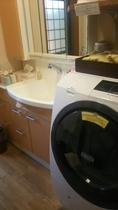 洗面所・パジャマ・ドラム式洗濯機(無料/洗剤・柔軟剤もご自由にお使いいただけます)