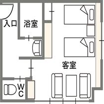 最上階ツインルーム (禁煙)