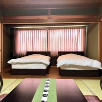 【楽天】和モダンルーム禁煙(ツインベッドと8畳)