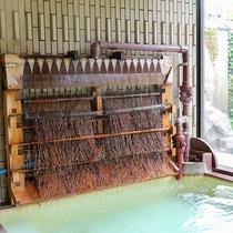 *【大浴場/女湯・湯雨竹】源泉加水なしで冷ますことが出きるので本物の「温泉」をお楽しみいただけます