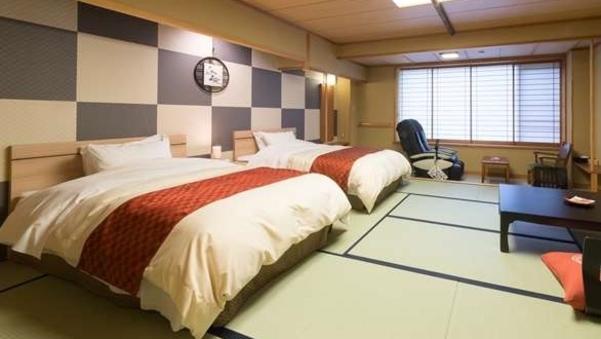 【禁煙】和12.5+ツインベッド★マッサージチェアー付客室