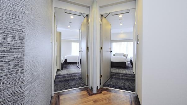 【喫煙】 コネクティングルーム 28平米ツインX2室