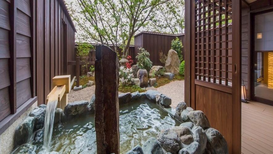 【客室風呂】スイート天然温泉露天風呂付(一例)