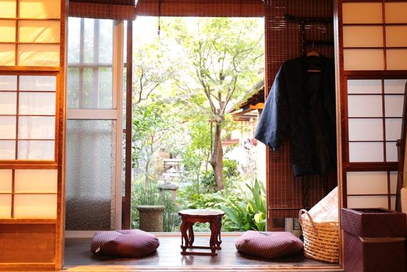 【一棟まるまる貸し切り】お得に旅する京都特別プラン朝食付き お庭が見えるお部屋でホームシアター付