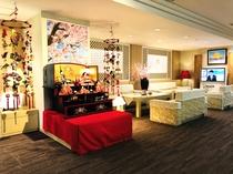 ◆3階フロントロビー◆ひな人形とつり雛
