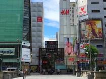 心斎橋筋商店街まで歩いて1分!