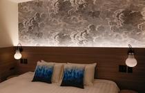 部屋タイプ毎に異なる壁紙・クッション