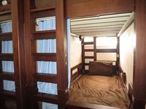 各ベッドにコンセント、扇風機、読書灯もあります