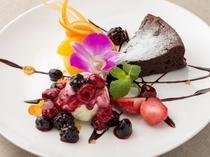 ケーキ一例:ガトーショコラ