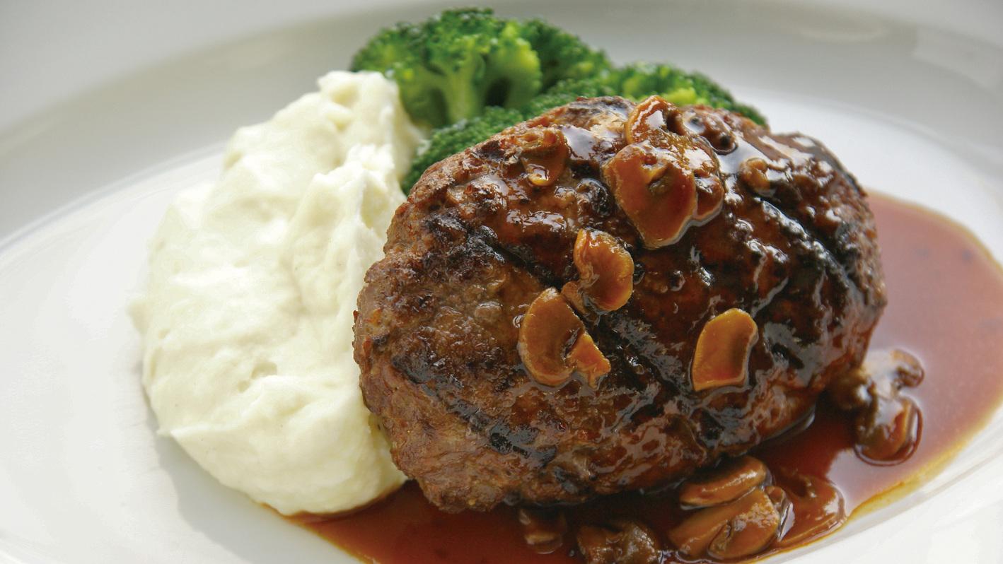 ランチ 人気No.1の牛肉100%の特製ハンバーグステーキ