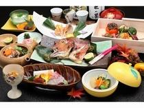 秋の京野菜と若狭甘鯛会席