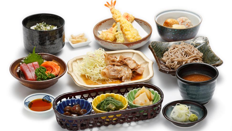 *夕食一例/レストランで会席料理をご用意致します。
