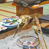 *夕食一例/会津の郷土料理を囲炉裏で堪能できるスタンダードプラン
