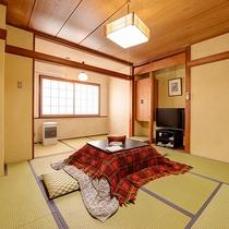 *和室8畳一例/冬はこたつで寛ぎの空間に。