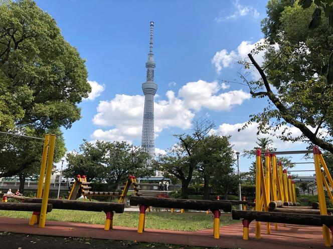 歩いて0分 隅田公園