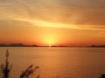 波戸岬の夕陽
