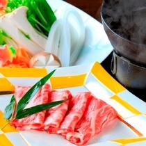 お肉と野菜の旨さ際立つ牛しゃぶ