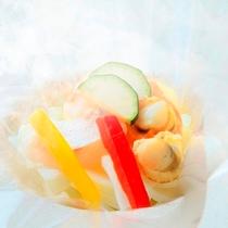 Koyoi流ブイヤベースは伊豆の恵みと野菜の旨味をお愉しみ下さい[春の会席より一例]